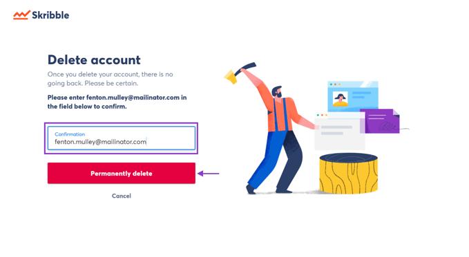 delete account confirmation-1